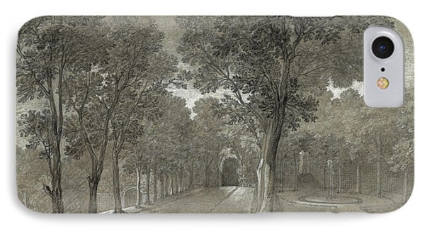 View Of The Park At Arcueil IPhone Case