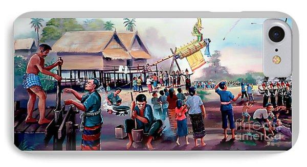 Village Rocket Festival-vintage Painting IPhone Case