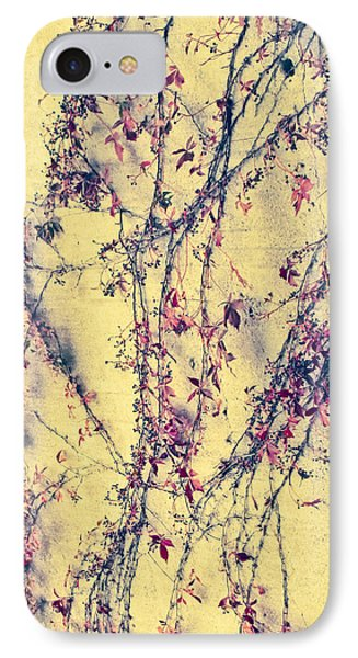 Vines On Yellow Wall Abstract IPhone Case