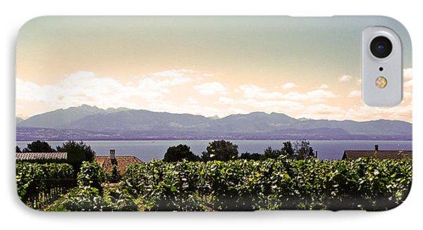 Vineyard On Lake Geneva IPhone Case