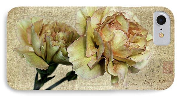Vintage Carnations IPhone Case