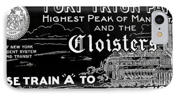 Vintage Cloisters And Fort Tryon Park Poster IPhone Case