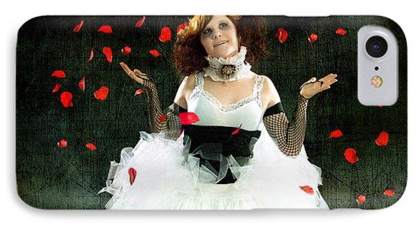 Vintage Dancer Series Raining Rose Petals  IPhone Case