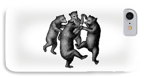 Vintage Dancing Bears IPhone Case