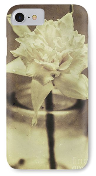 Vintage Floral Still Life Of A Pure White Bloom IPhone Case