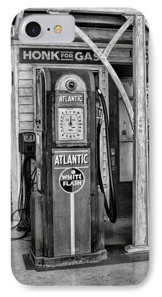 Vintage Gas Station Bw IPhone Case