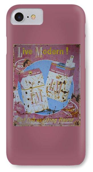 Vintage L And M Cigarette Sign IPhone Case