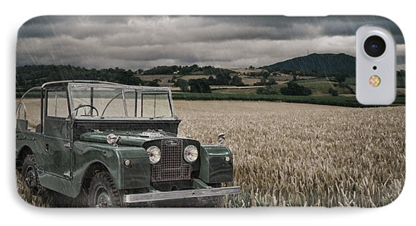 Vintage Land Rover In Field IPhone Case