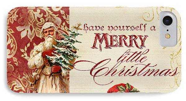 Vintage Santa Claus - Glittering Christmas IPhone Case