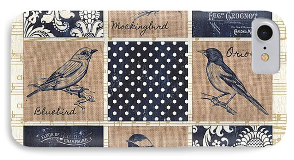 Vintage Songbird Patch 2 IPhone Case