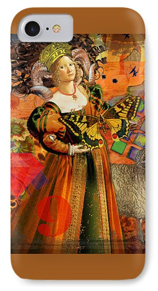 Vintage Taurus Gothic Whimsical Collage Woman Fantasy IPhone Case