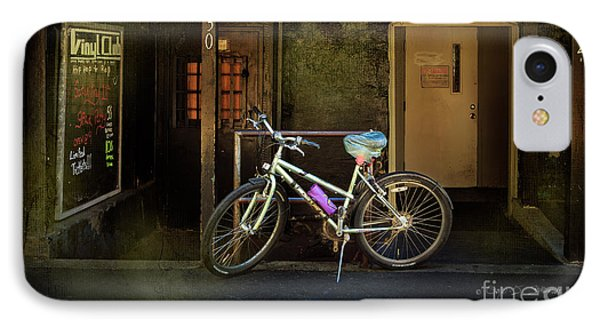 IPhone Case featuring the photograph Vinyl Club Bicycle by Craig J Satterlee