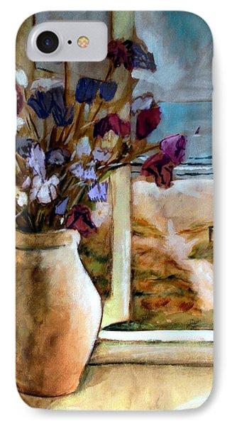 Violet Beach Flowers IPhone Case