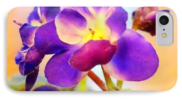 Violet In Bloom IPhone Case