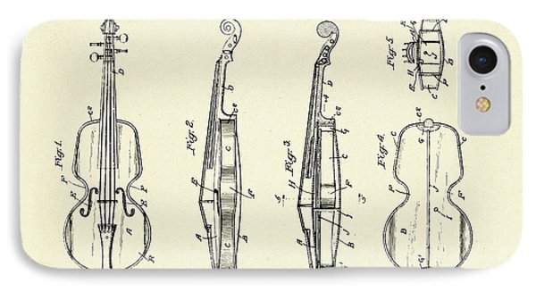 Violin iPhone 8 Case - Violin-1921 by Pablo Romero