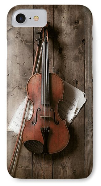 Music iPhone 8 Case - Violin by Garry Gay