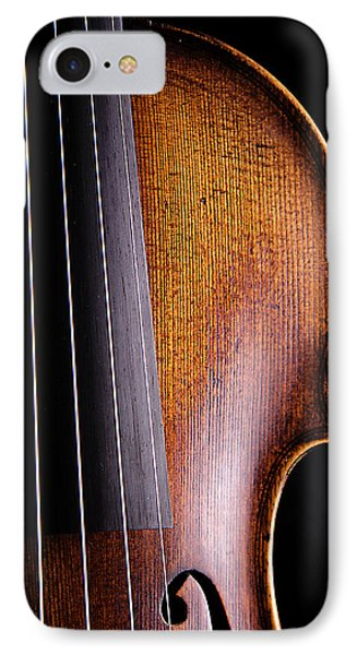 Violin Isolated On Black IPhone Case