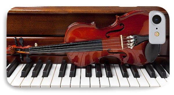 Violin On Piano IPhone Case