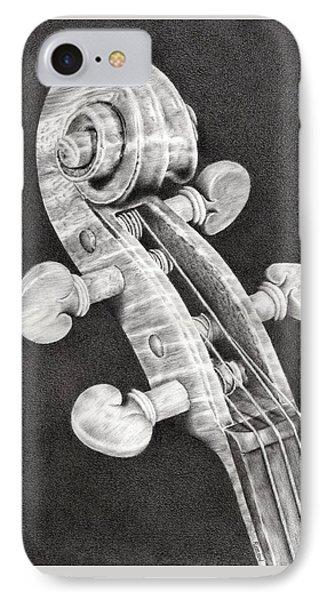 Violin iPhone 8 Case - Violin Scroll by Remrov