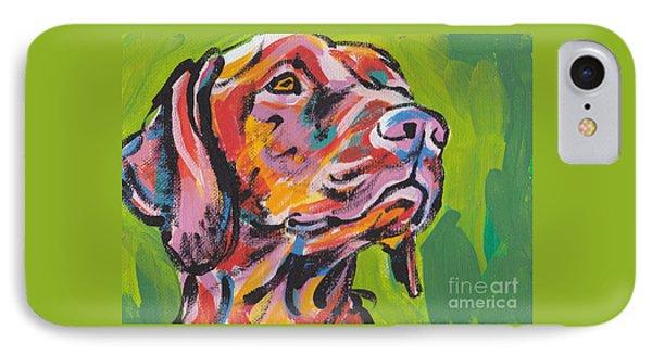 Dog iPhone 8 Case - Viva La Vizsla by Lea S