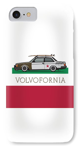 Volvofornia Slammed Volvo 242 240 Coupe California Style IPhone Case