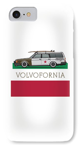 Volvofornia Slammed Volvo 245 240 Wagon California Style IPhone Case