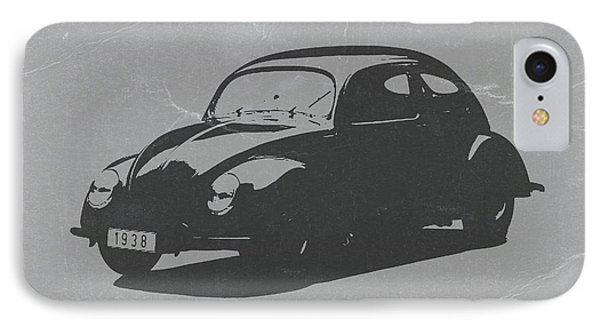 Car iPhone 8 Case - Vw Beetle by Naxart Studio