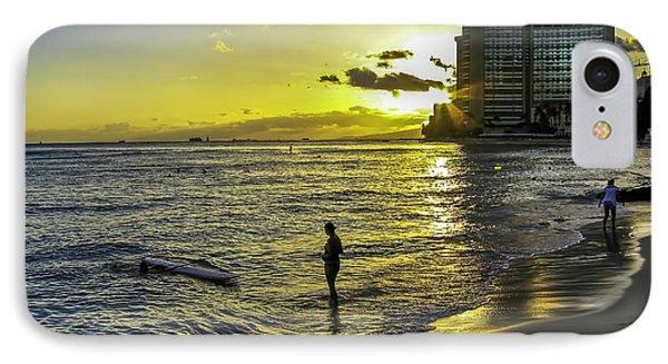 Waikiki Beach At Sunset IPhone Case