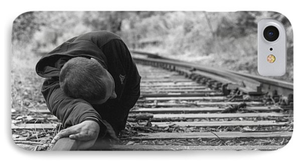 Waiting On The Rails IPhone Case