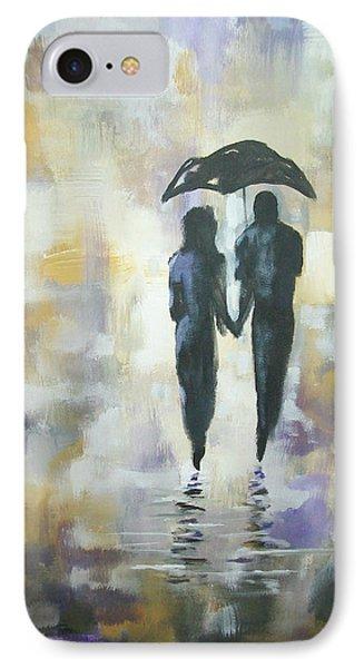 Walk In The Rain #3 IPhone Case