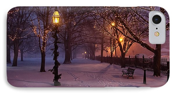 Walking The Path On Salem Common IPhone Case