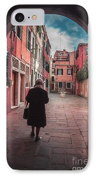 Walking Through Time - Venice, Italy IPhone Case