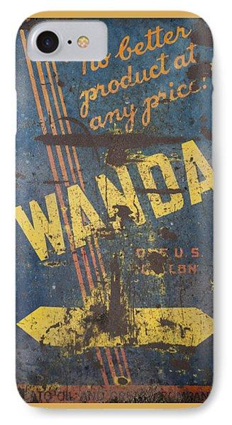 Wanda Motor Oil Vintage Sign IPhone Case
