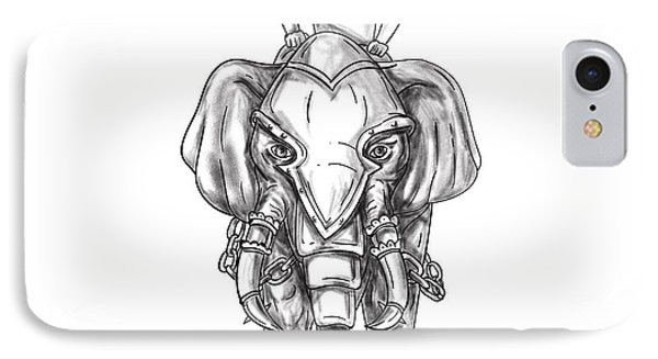 War Elephant Mahout Rider Tattoo IPhone Case