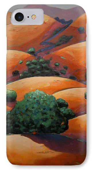Warm Afternoon Light On Ca Hillside IPhone Case