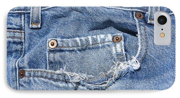 Worn Jeans IPhone Case