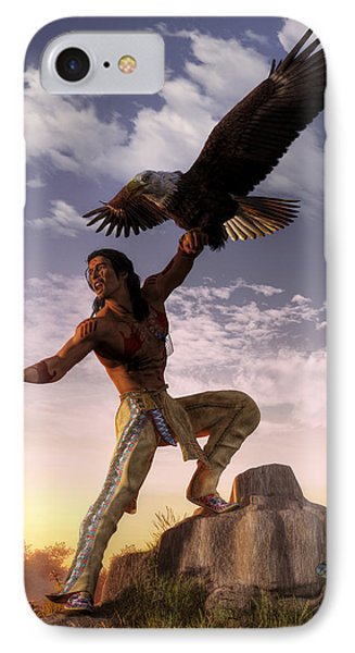 Warrior And Eagle IPhone Case