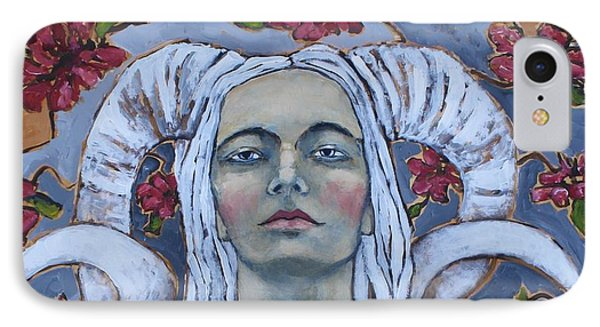Portraits iPhone 8 Case - Warrior by Jane Spakowsky