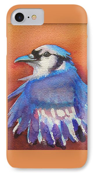 Watercolor Blue Jay IPhone Case