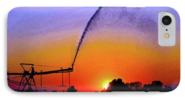 Watercolor Irrigation Sunset 3243 W_2 IPhone Case