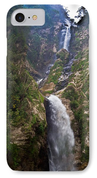 Waterfall Highlands Of Guatemala 1 IPhone Case