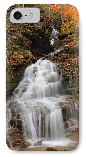 Waterfall In Smugglers Notch IPhone Case