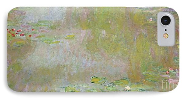 Lily iPhone 8 Case - Waterlilies At Giverny by Claude Monet