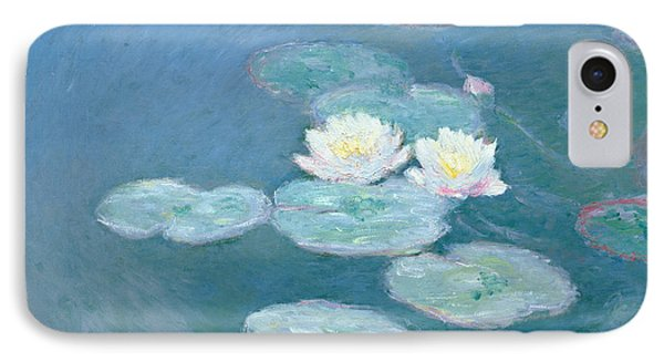 Impressionism iPhone 8 Case - Waterlilies Evening by Claude Monet
