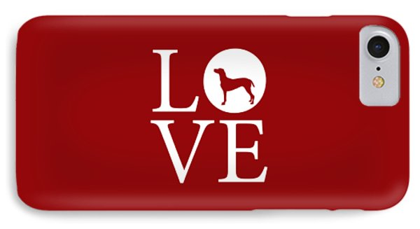 Weimaraner Love Red IPhone Case