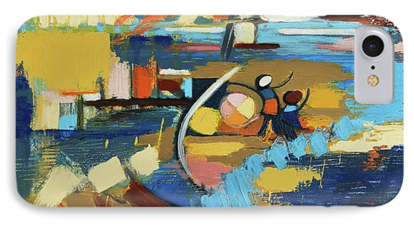 IPhone Case featuring the painting West End Blues by Erin Fickert-Rowland