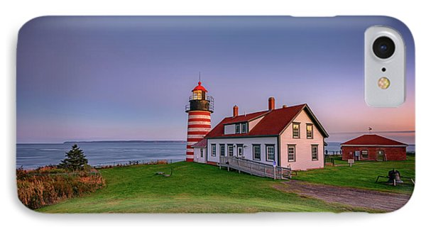 West Quoddy Head Light At Dusk IPhone Case