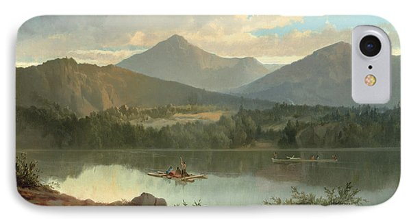 Mountain iPhone 8 Case - Western Landscape by John Mix Stanley