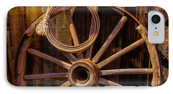 Western Rope And Wooden Wheel IPhone Case