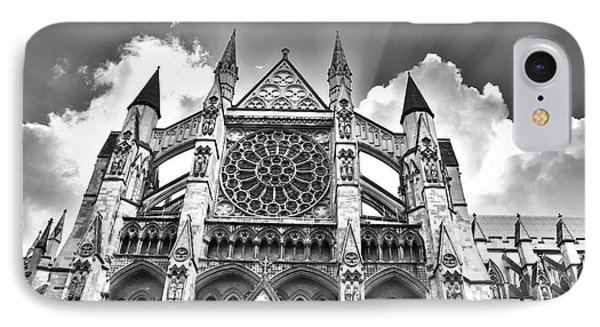 Westminster Abbey Under The Clouds And Rays IPhone Case